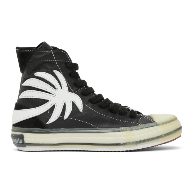 PALM ANGELS PALM ANGELS BLACK PALM VULCANIZED HIGH SNEAKERS