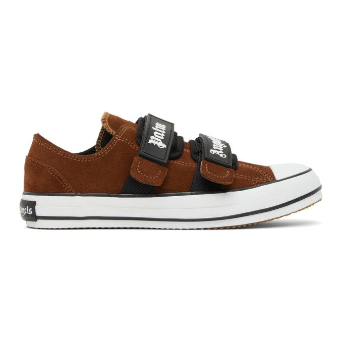 Palm Angels PALM ANGELS BROWN VULCANIZED SNEAKERS