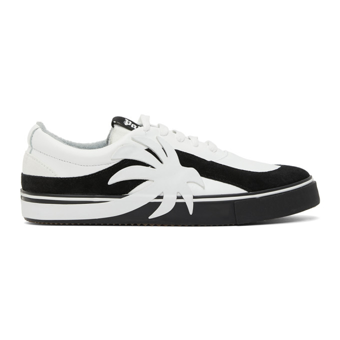 Palm Angels WHITE & BLACK PALM VULCANIZED LOW SNEAKERS