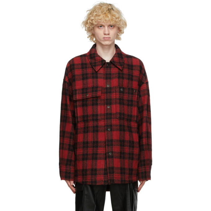 Wooyoungmi Wooyoungmi Red Wool Plaid Jacket