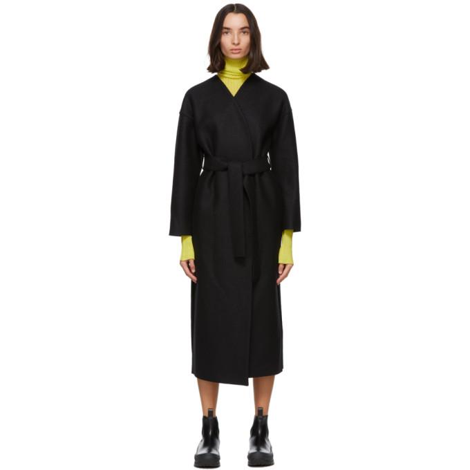 プレス ウール ベルト コート