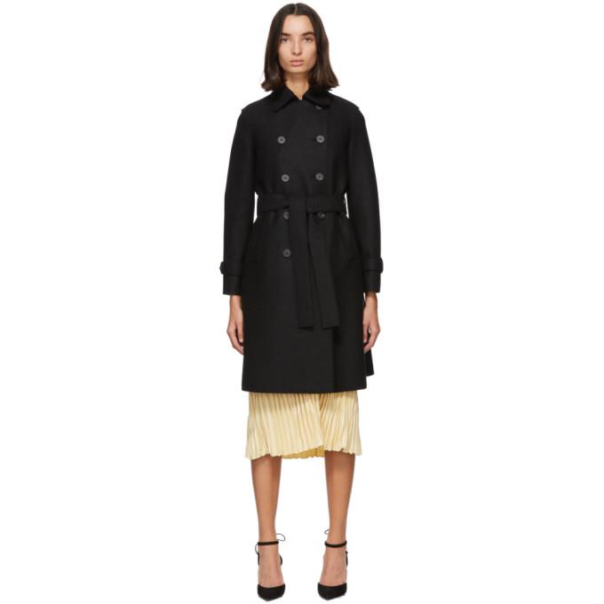 プレス ウール トレンチ コート
