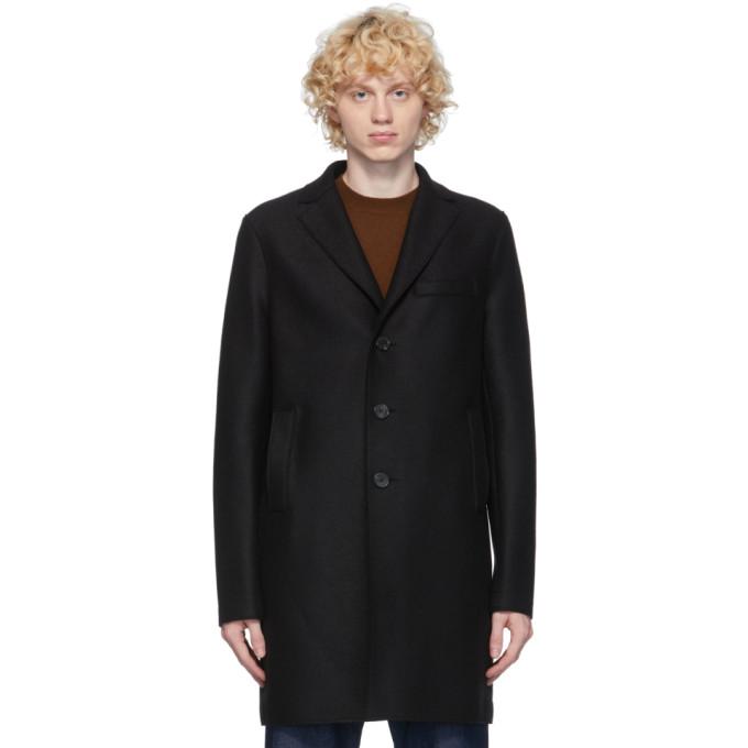 ブラック ボクシー プレス ウール コート