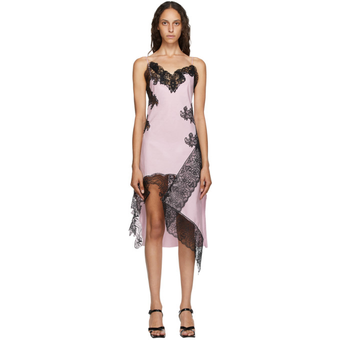 Marques' Almeida MARQUES ALMEIDA PINK LACE SLIP DRESS