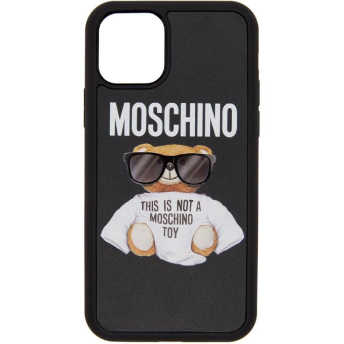 Moschino MOSCHINO BLACK BEAR IPHONE 11 PRO CASE