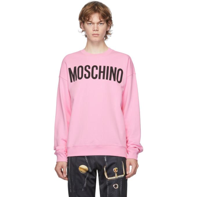 Moschino MOSCHINO PINK LOGO SWEATSHIRT