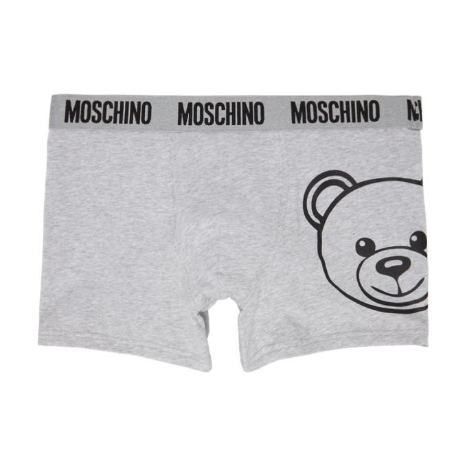 Moschino Cottons MOSCHINO GREY TEDDY BOXERS