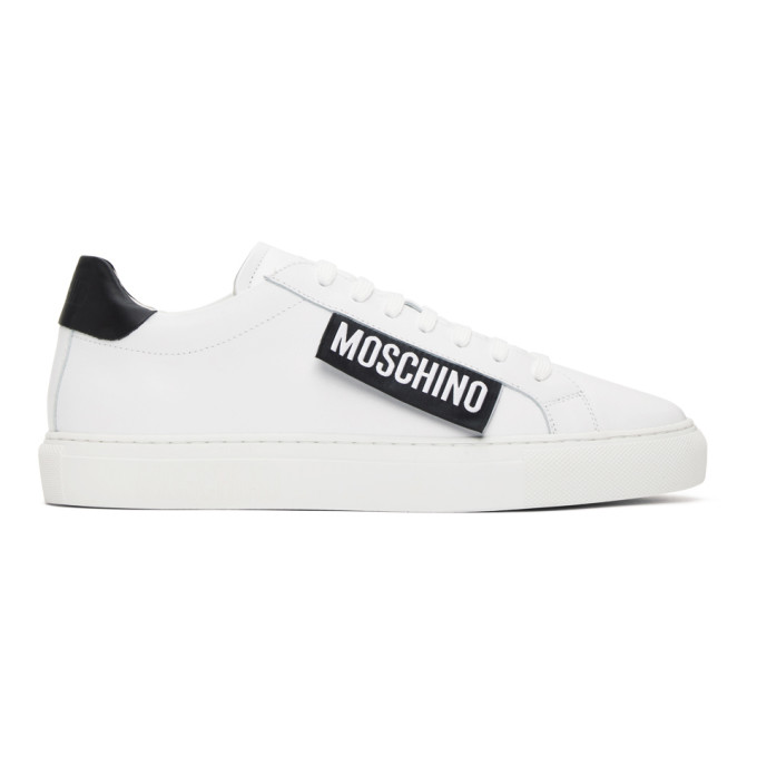 Moschino MOSCHINO WHITE LABEL LOW-TOP SNEAKERS