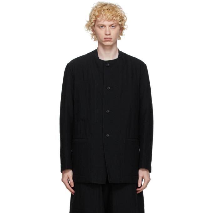 Issey Miyake Men Blouson reversible en laine noir