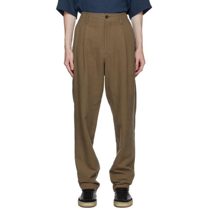 Issey Miyake Men Pantalon beige Panama