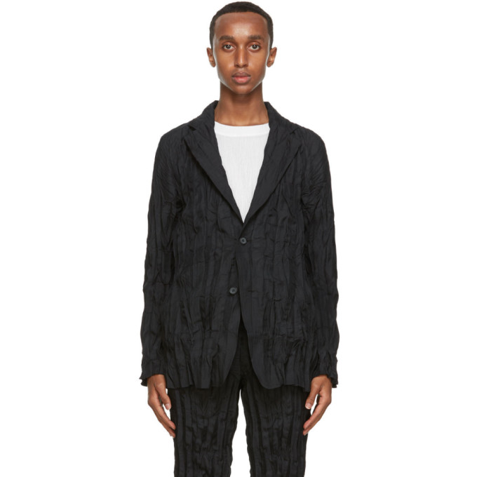 Issey Miyake Men Blazer noir Twist Basic