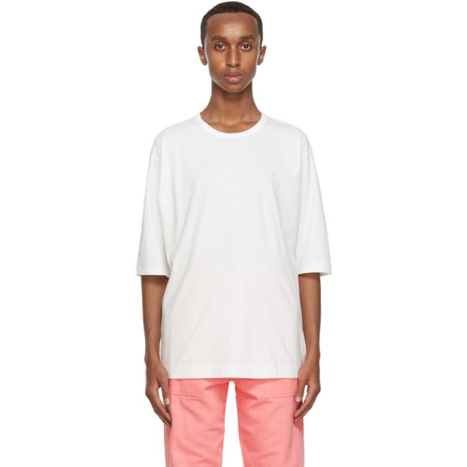 Issey Miyake Men T-shirt en coton blanc