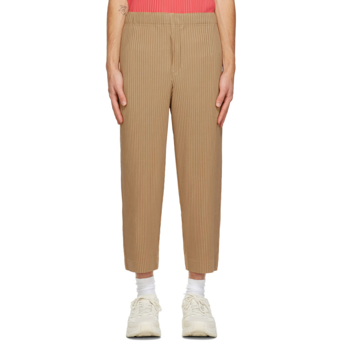 Homme Plisse Issey Miyake Pantalon plisse brun clair MC June