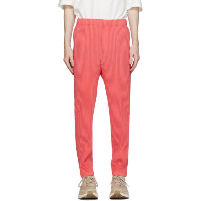 Homme Plisse Issey Miyake Pantalon rose New Colorful Basics 2
