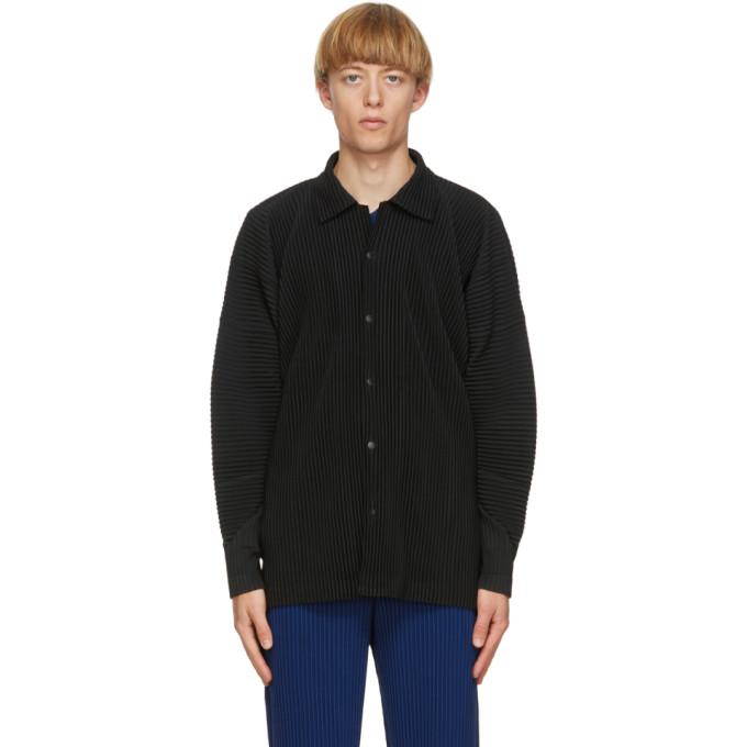 Pleats Please Issey Miyake Homme Plisse Issey Miyake Black Mc June Shirt In 15 Black