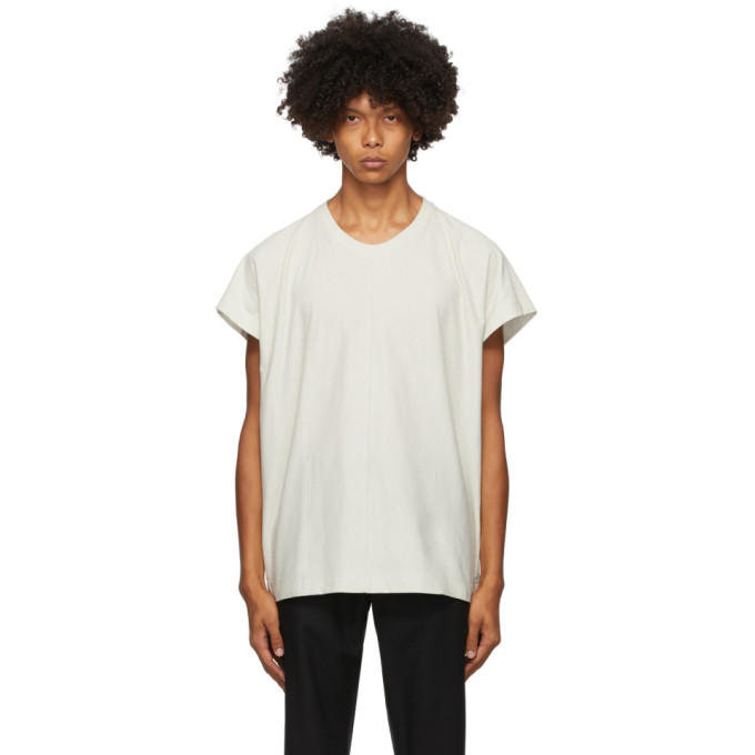 Homme Plisse Issey Miyake T-shirt a mancherons gris Release-T1