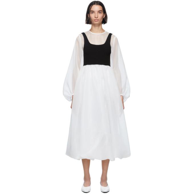 Enfold Robe etagee en organdi blanche
