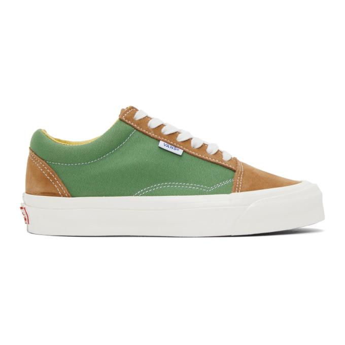 Vans Green And Tan Ns Og Old Skool Lx