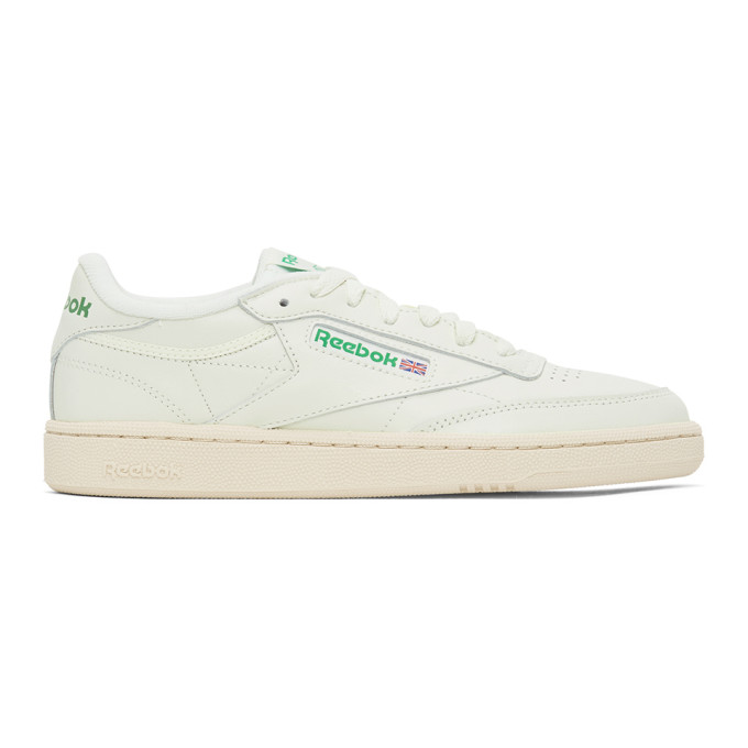 Reebok REEBOK CLASSICS OFF-WHITE AND GREEN CLUB C 85 VINTAGE SNEAKERS