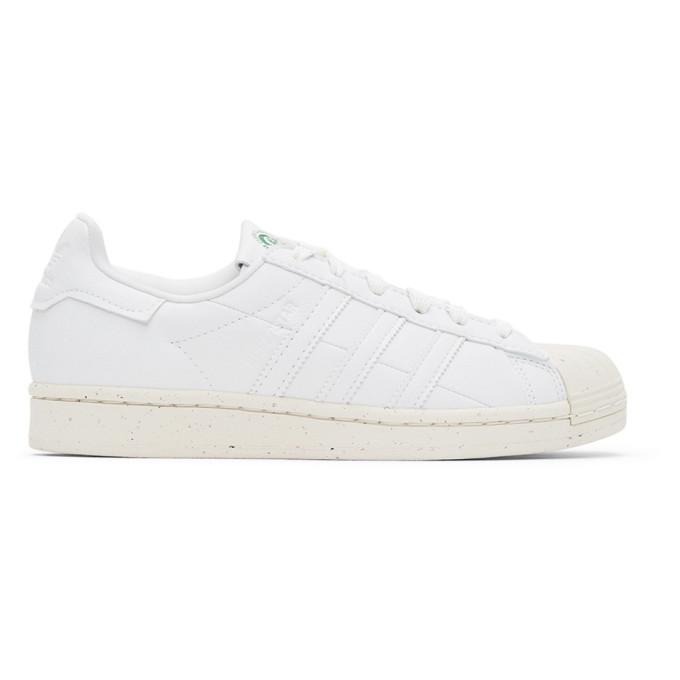 Adidas Originals ADIDAS ORIGINALS WHITE CLEAN CLASSICS SUPERSTAR SNEAKERS