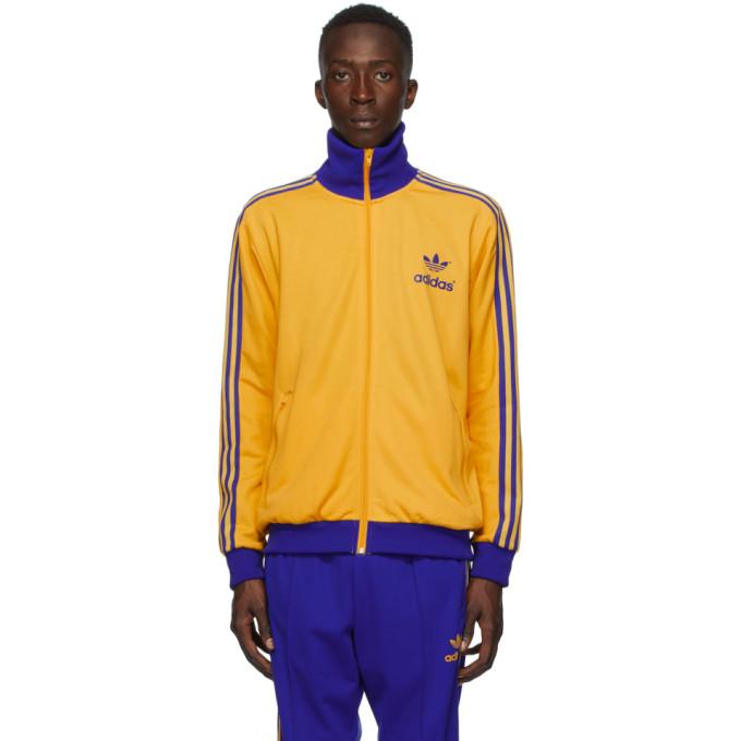 Adidas Originals ADIDAS ORIGINALS YELLOW ADICOLOR 70S ARCHIVE TRACK JACKET