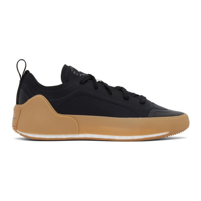 Adidas By Stella Mccartney ADIDAS BY STELLA MCCARTNEY BLACK TREINO LOW-TOP SNEAKERS