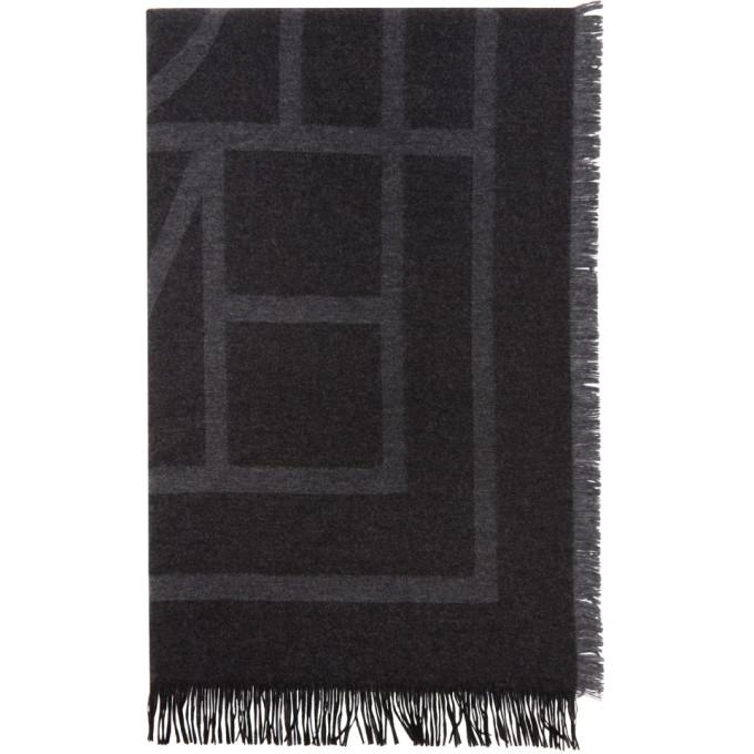 Toteme Foulard en laine noir Como