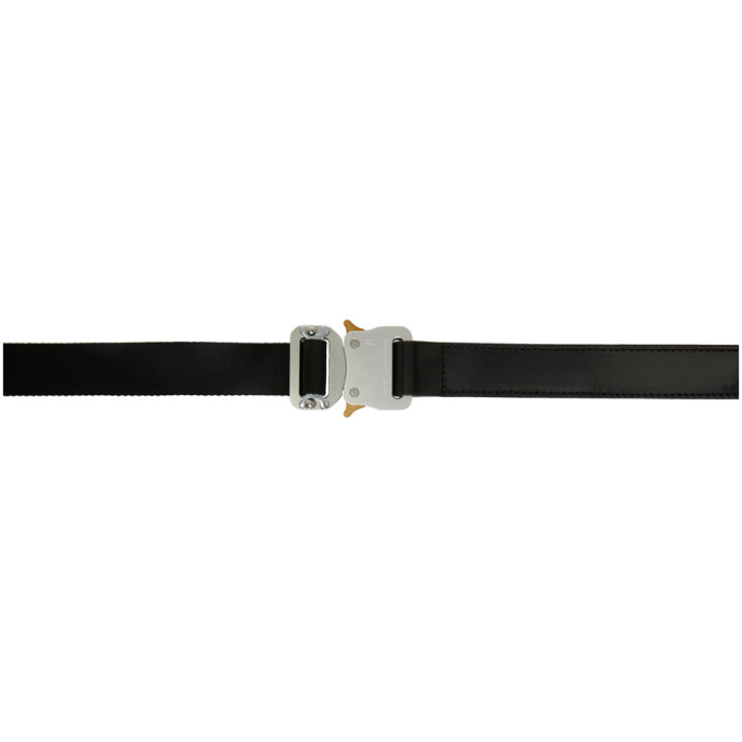Alyx 1017 ALYX 9SM BLACK DOUBLE BUCKLE ROLLERCOASTER BELT