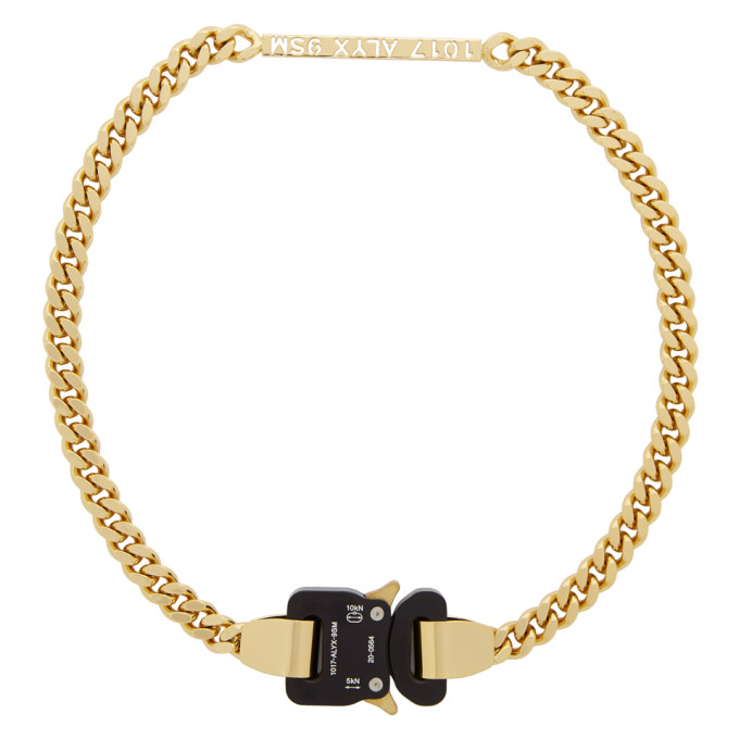 1017 ALYX 9SM Gold Buckle Necklace 202776F01003801