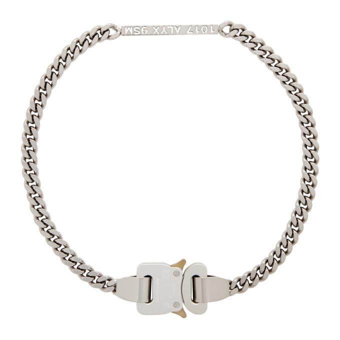 1017 ALYX 9SM Silver Buckle Necklace 202776F01003901