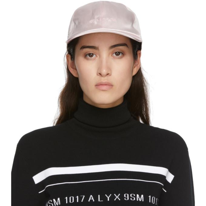Alyx 1017 ALYX 9SM PINK SATIN LOGO BASEBALL CAP