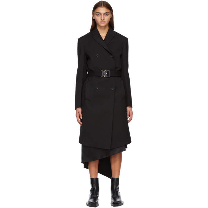 1017 ALYX 9SM Black Buckle Double High Coat 202776F05907601