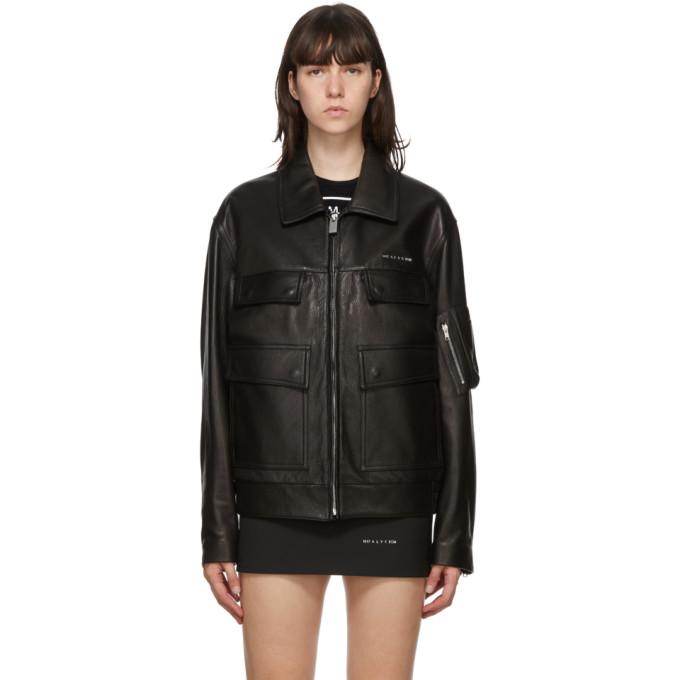 1017 ALYX 9SM 1017 ALYX 9SM Black Leather Zip-Up Jacket
