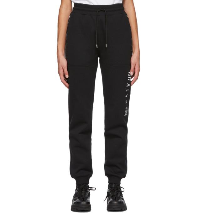 1017 ALYX 9SM Black Visual Logo Lounge Pants 202776F08614704