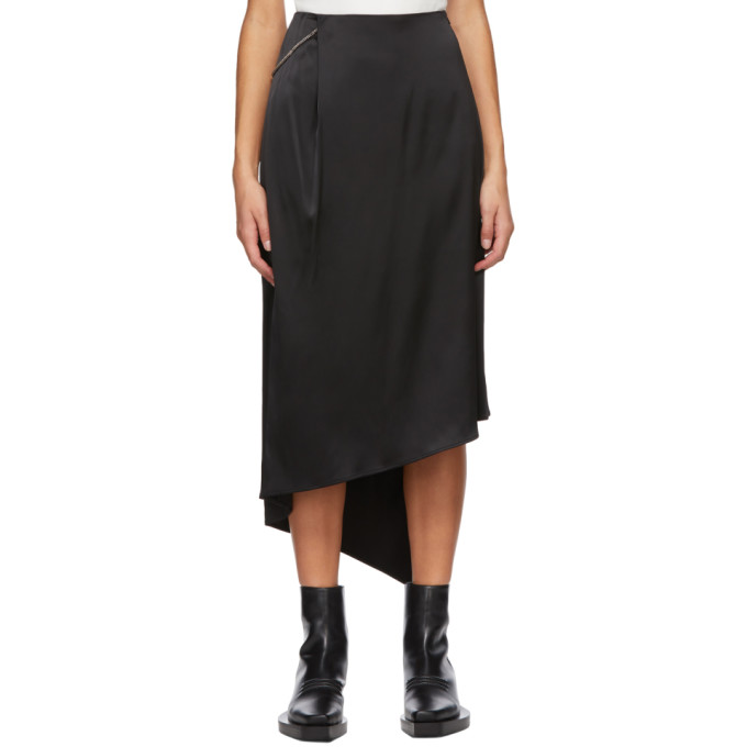1017 ALYX 9SM Black Chain Mid Length Skirt 202776F09213203