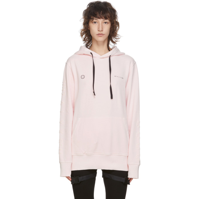 1017 ALYX 9SM Pink Double Logo Hoodie 202776F09710001