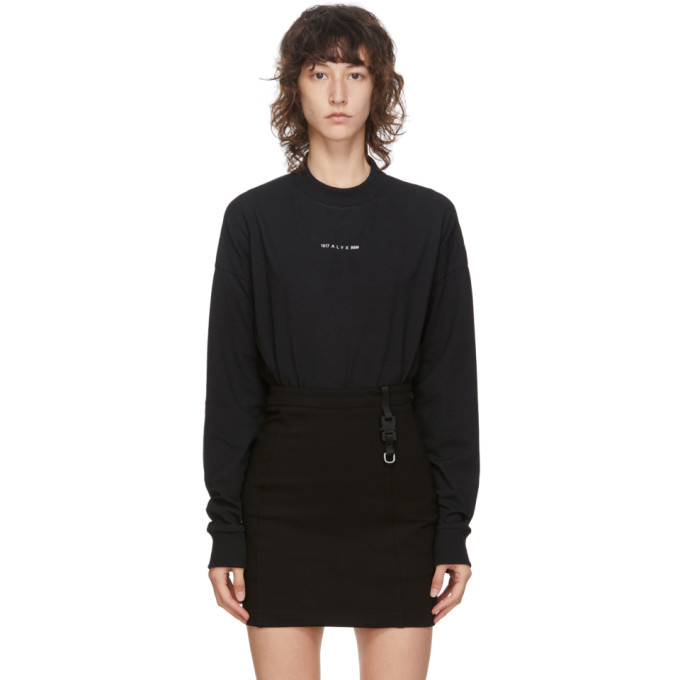 1017 ALYX 9SM Black Visual Logo Long Sleeve T Shirt 202776F11011502