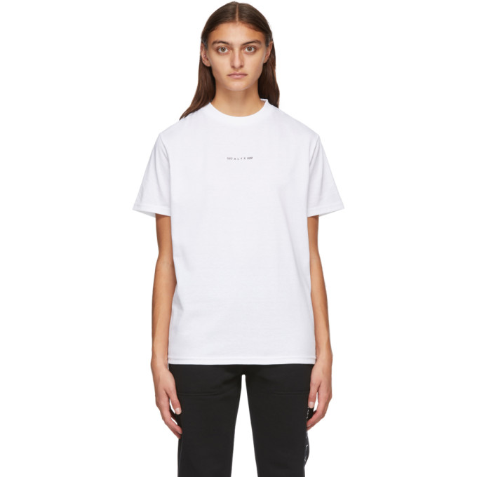 1017 ALYX 9SM White Visual Logo T Shirt 202776F11011704
