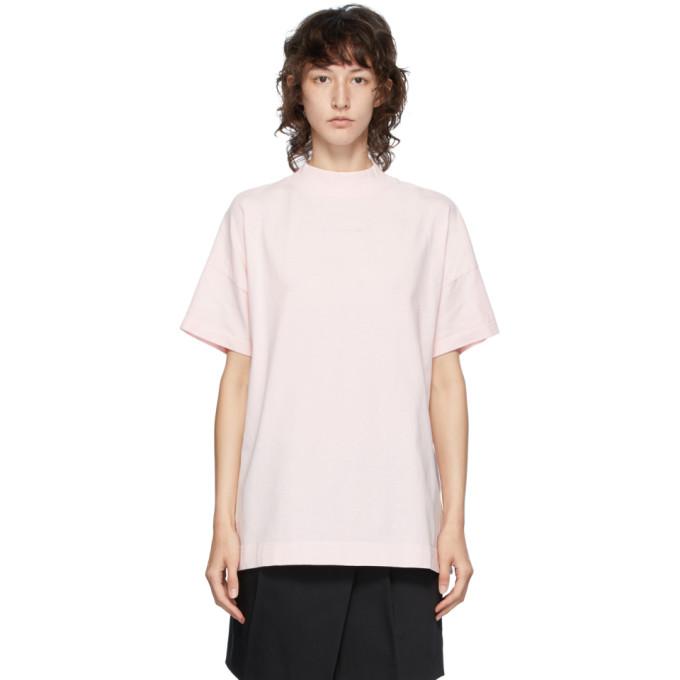 1017 ALYX 9SM Pink Logo Mock Neck T Shirt 202776F11011902