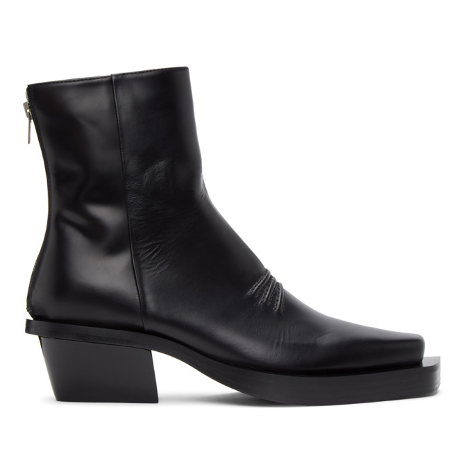 1017 ALYX 9SM Black Leone Zip Boots 202776F11301706