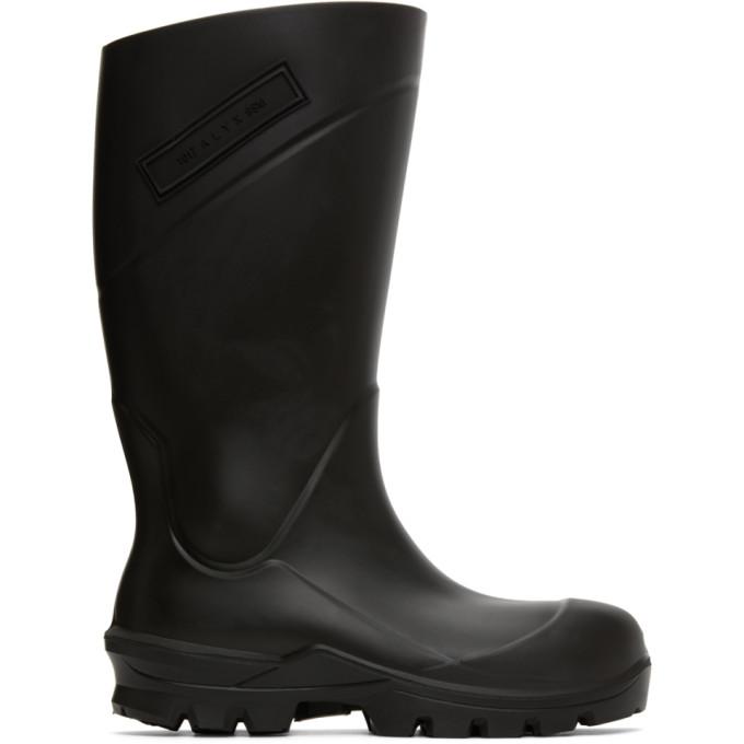 1017 ALYX 9SM Black Logo Rain Boots 202776F11400902