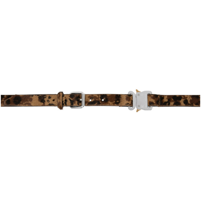 1017 ALYX 9SM Black and Brown Leopard Belt 202776M13109301