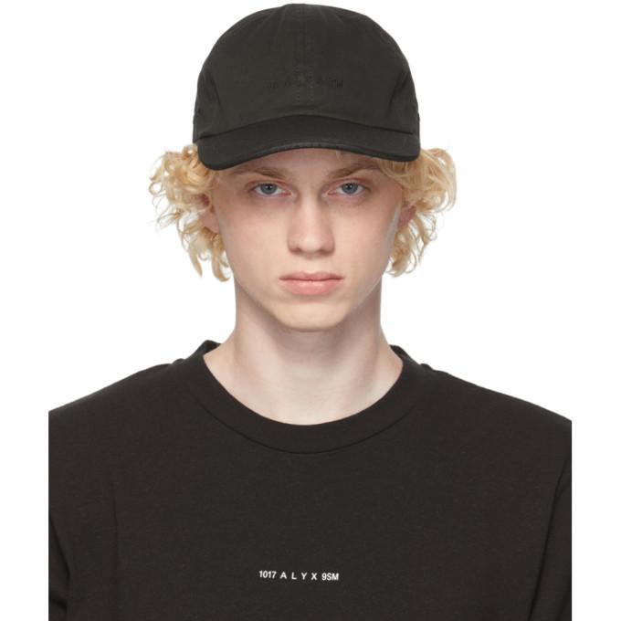 1017 ALYX 9SM Black Twill Logo Cap 202776M13910301