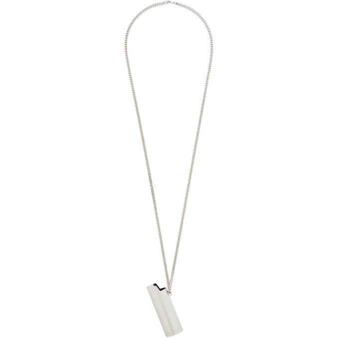 1017 ALYX 9SM Silver Lighter Case Necklace 202776M14512101