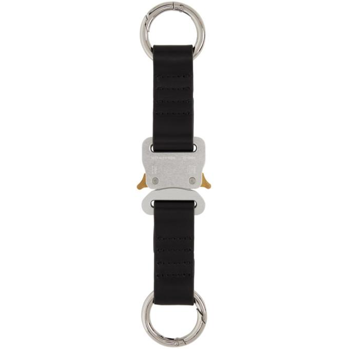 1017 ALYX 9SM Silver Leather Short Buckle Keychain 202776M14813901