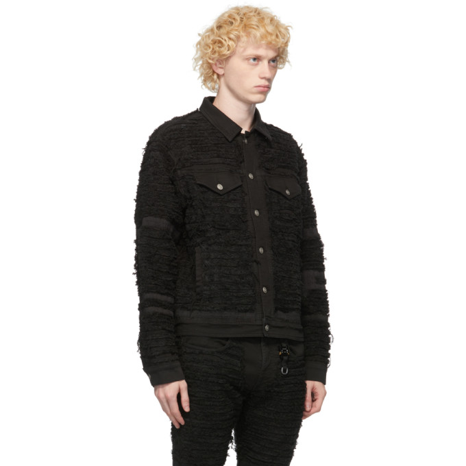 ALYX Denims 1017 ALYX 9SM BLACK BLACKMEANS EDITION DENIM SHREDDED JACKET