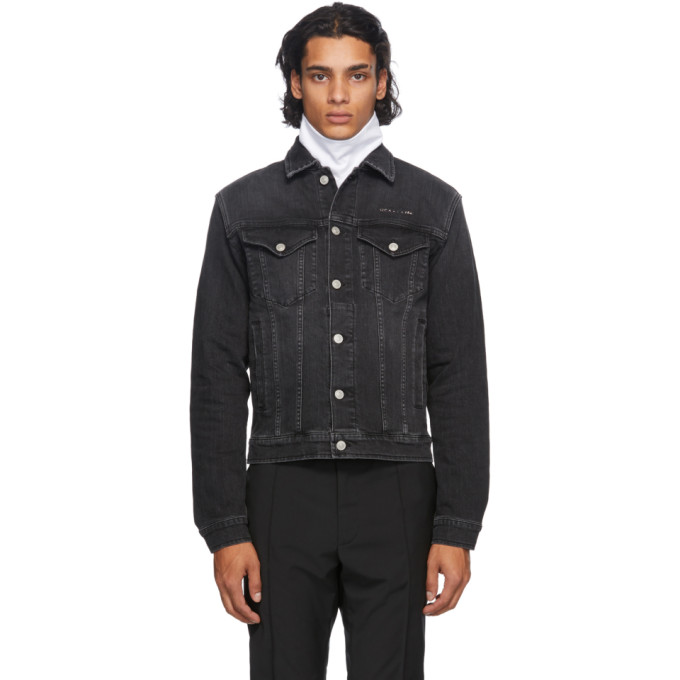 ALYX 1017 ALYX 9SM BLACK DENIM COLLECTION STITCHING JACKET