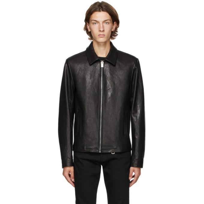 1017 ALYX 9SM Black Leather Leone Jacket 202776M18101205