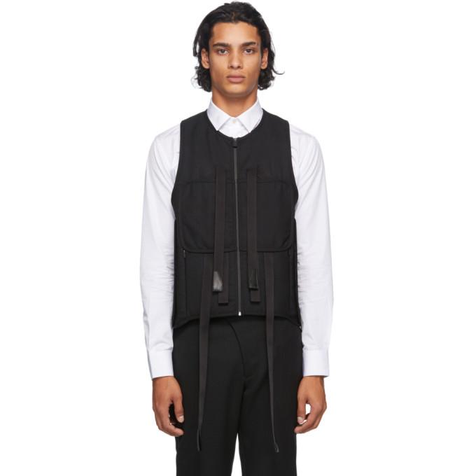 1017 ALYX 9SM Black Wool Modern Tactical Vest 202776M18500404