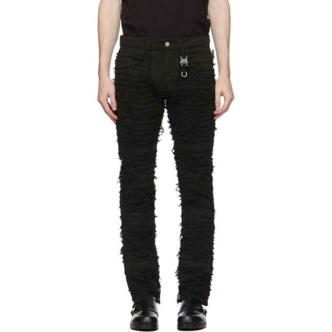 1017 ALYX 9SM Black Blackmeans Edition Six Pocket Jeans 202776M18602702